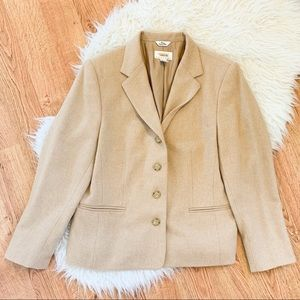 Talbots 100% Tan Camel Hair Jacket 12P
